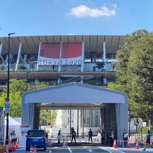 オリンピック近づく現在の国立競技場の様子