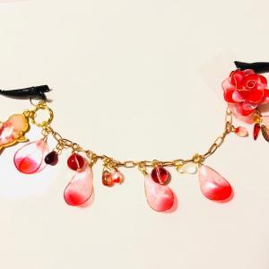 バラと金魚の羽織クリップ