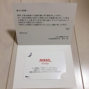 《株主優待 3》初取得⭐︎日本毛織 ニッケ