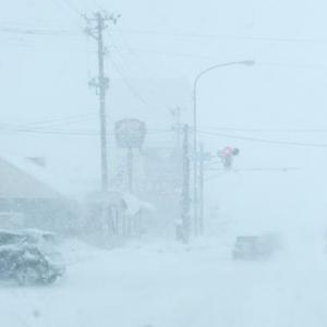 大嵐の日にスキー練習したら、●●●が凍り付きました・・・