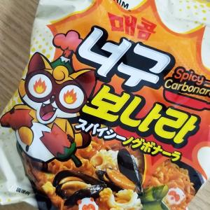 【韓国ラーメン】スパイシーノグボナーラを食べてみた