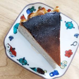 【おうちごはん】ほうじ茶バスクチーズケーキとベーグル