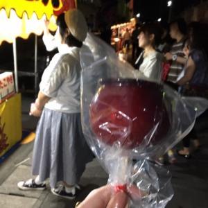 りんご飴と女同士