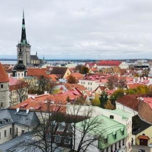 エストニアの首都、旧市街のタリン