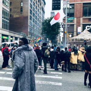 マンハッタンでなびく日本国旗に向かってみたら。。。