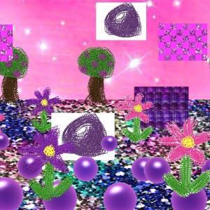 異空間通路からグミ通路→グミの異空間→砂絵の異空間→夢現異空間にも紫の砂→砂で覆われたグミ