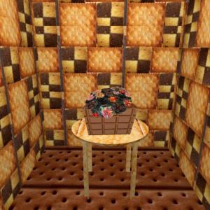 家の中→異空間の庭→グミの異空間→お菓子の家→グミチョコ→宇宙異空間→夢現異空間