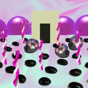 異空間通路→グミの異空間→黒豆エリア→文字列の異空間→多重夢→部屋を出たら物体の異空間→リビング