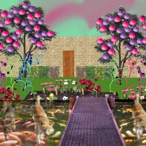 異空間の街中→異空間広場→異空間の施設→異空間の部屋→異空間の庭と池→グミの異空間→夢現異空間
