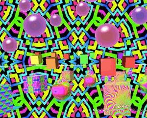 異空間通路→物体の異空間→サイケデリックエリア→文字列→多重夢→異空間の部屋→万華鏡の異空間