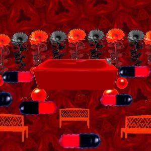 夢現異空間→赤黒通路→赤の万華鏡広場→異空間デパート→異空間広場→ポテチとグミの部屋→異空間通路