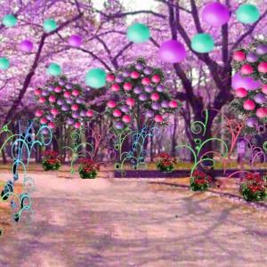異空間の庭→異空間の街中→異空間公園→トイレ→ネオン花の異空間→夢現異空間