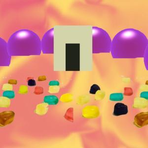物体の異空間→グミエリア→迷路施設→う〇この異空間→グミの部屋→プチプチグミ→宇宙異空間→夢現