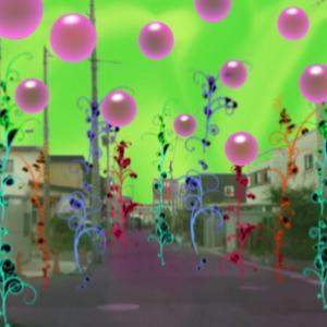 グミの異空間→宇宙異空間→夢現通路→異空間化した世界→異空間の街中→異空間広場→夢現に異空間の窓