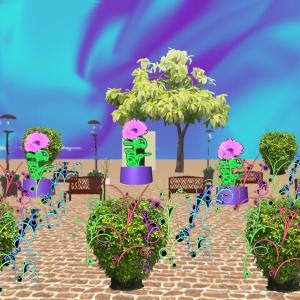 グミの異空間→ベッドルーム→紫の異空間→多重夢→リビング→庭→異空間の植物広場