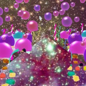 宇宙グミ通路→宇宙広場→万華鏡通路→施設→リビングのような部屋→物体の異空間→夢現