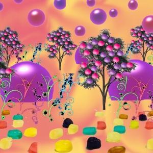 グミと植物の異空間→サイケ通路→万華鏡の異空間→巨大グミの部屋→夢現異空間