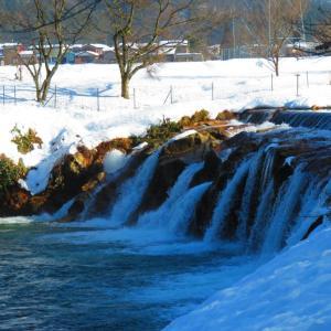 冬晴れ いしかわ風景 冬の十二ケ滝。。。