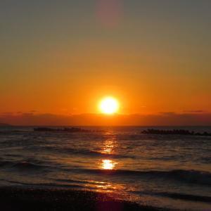 2021 冬の日本海の夕日。。。