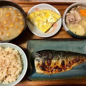 2020/10/25ご飯記録 塩さばの焼き魚