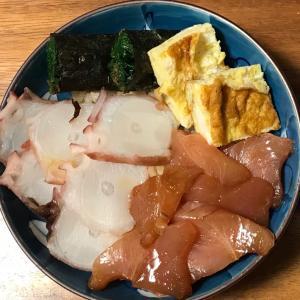 2021/1/15ご飯記録 お粗末な生ちらし