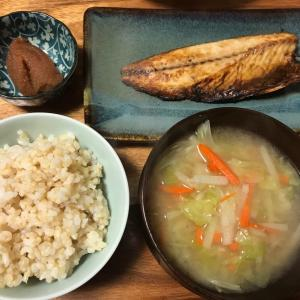 2021/1/20ご飯記録 塩さばの焼き魚