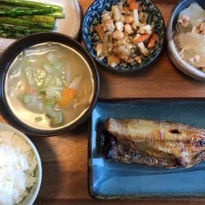 2021/6/6ご飯記録  ほっけの焼き魚