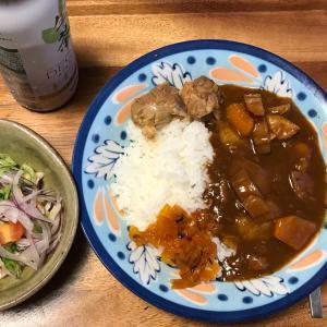 2021/9/21ご飯記録 豚すね肉のカレー