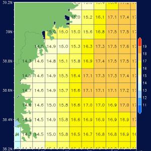 気仙沼の海面水温情報です。