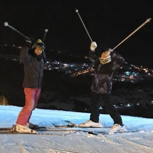 スキーで腹筋崩壊