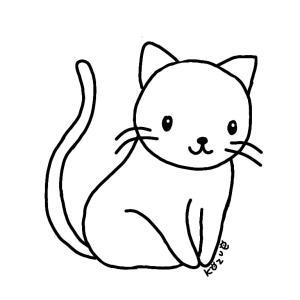 今日は猫の絵
