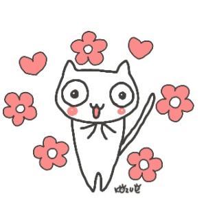 猫の絵と歯磨き