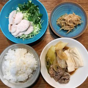 肉豆腐で夜ごはん