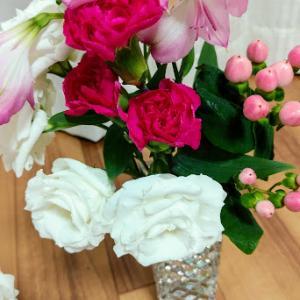 今日の花とワンプレートごはん