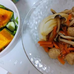 野菜尽くしの晩御飯。頑張ってるよ