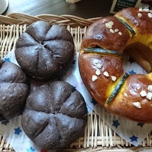 かぼちゃのパンとバーガー
