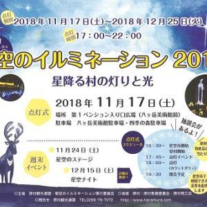 星空のイルミネーション2018☆11.17(土)から12.25(火)まで☆