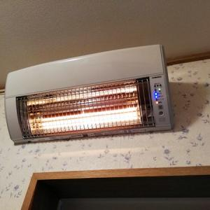 コロナウォールヒート口コミ・洗面所の壁掛け暖房が即暖かい!安心!