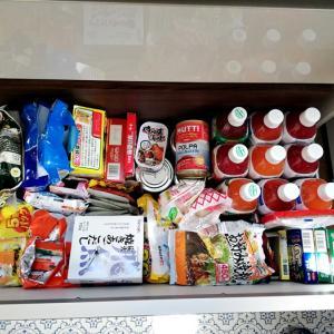 緊急事態宣言で備蓄を始めた食料品は引き出し収納にしました