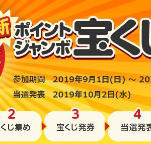 ECナビ ポイントジャンボ宝くじ9月号 発券
