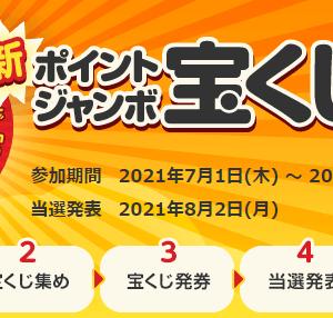 ECナビ ポイントジャンボ宝くじ 7月号 発券