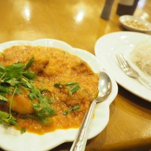 ミャンマー料理を旅の先輩と