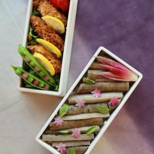 今日のお弁当の萌え萌えアイテムは、グリーンピンクの豆まめさん