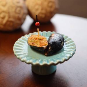 フィンガーフード★ムール貝のカラフル焼き