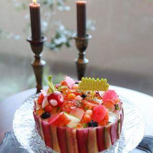 今日は旦那さんのバースディ♥寿司ケーキ