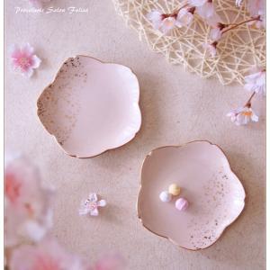 ◆全面貼り×金ちらしの桜皿◆
