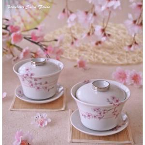 ◆さくら×ろくろ線の茶器セット◆