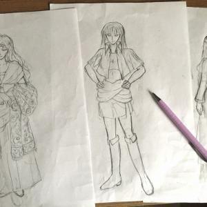 登場人物イラストをゆるゆる描いています