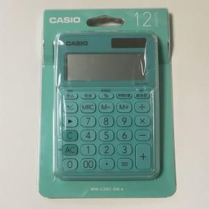 電卓を新調しました CASIO MW-C20C