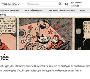 「バンド・デシネ」が、フランス国立図書館の電子図書館で見られる